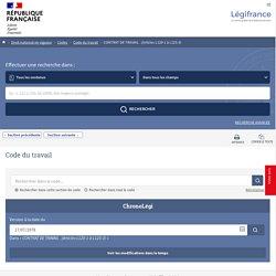 CONTRAT DE TRAVAIL . (Articles L120-1 à L125-3) - Légifrance