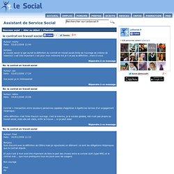 le contrat en travail social - Assistant de Service Social