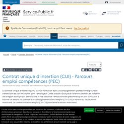 Contrat unique d'insertion (CUI)