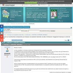 Sujet : CONTRAT A HORAIRE VARIABLE (1/2) - Les forums de Casamape