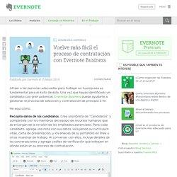 Evernote Business - Vuelve más fácil el proceso de contratación