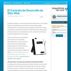 El Contrato de Desarrollo de Sitio Web