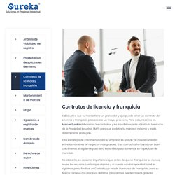 Contratos de licencia y franquicia - Eureka