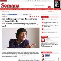Los polémica prorroga de contratos en TransMilenio, Nación