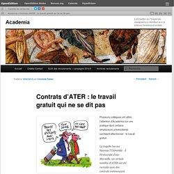 Contrats d'ATER : le travail gratuit qui ne se dit pas