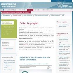 Éviter le plagiat - Droits d'auteur, plagiat, contrats avec les éditeurs...