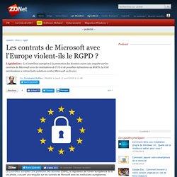 Les contrats de Microsoft avec l'Europe violent-ils le RGPD ?