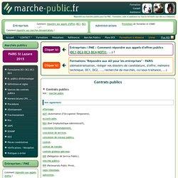 contrats publics achat public marchés publics définition