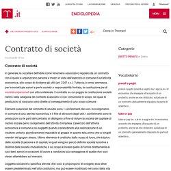 Contratto di società nell'Enciclopedia Treccani