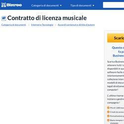 Contratto di licenza musicale - Modelli e esempi di moduli