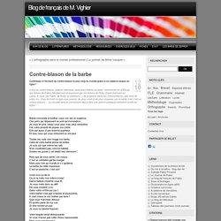 Contre-blason de la barbe - Blog de français de M. Vighier