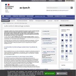 [Académie de Lyon] Lutte contre le décrochage scolaire