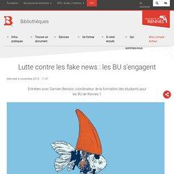 Lutte contre les fake news : les BU s'engagent