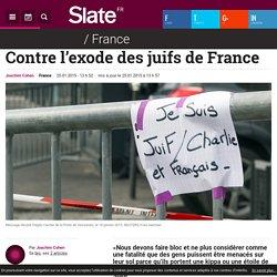 Contre l'exode des juifs de France