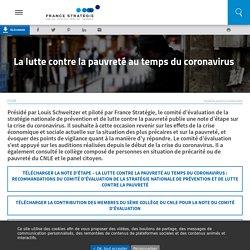 La lutte contre la pauvreté au temps du coronavirus .../ France stratégie, octobre 2020