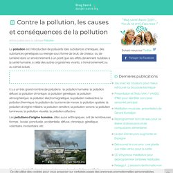 Contre la pollution : la pollution de l air, la pollution de l eau, causes de la pollution ...