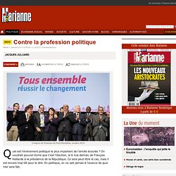Contre la profession politique