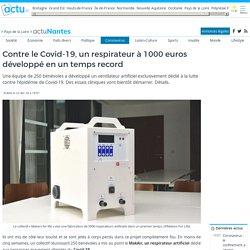 Contre le Covid-19, un respirateur à 1000 euros développé en un temps record
