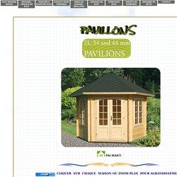 Chalets en madriers et rondins empilés en kits PALMAKO - La passion du bois, notre passion - Maisons bois en madriers empilés contrecollés, mobil bois, maisons évolutives, piscines bois