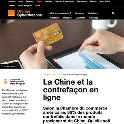 La Chine et la contrefaçon en ligne