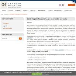 Contrefaçon : les dommages et intérêts alourdis - Germain & Maureau