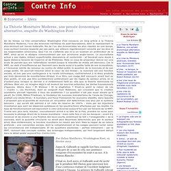 La Théorie Monétaire Moderne, une pensée économique alternative, enquête du Washington Post