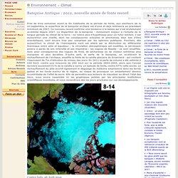 Banquise Arctique: 2012, nouvelle année de fonte record