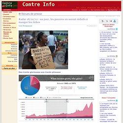 Radar 18/10/11: un jour, les pauvres en seront réduits à manger les riches