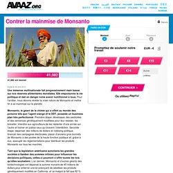 Contrer la mainmise de Monsanto