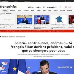 Salarié, contribuable, chômeur... Si François Fillon devient président, voici ce que ça changera pour vous