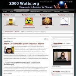 AREVA: Les Contribuables passent à nouveau à la Caisse