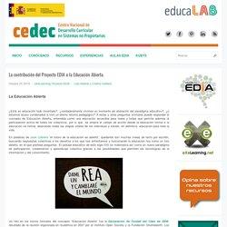 La contribución del Proyecto EDIA a la Educación Abierta.