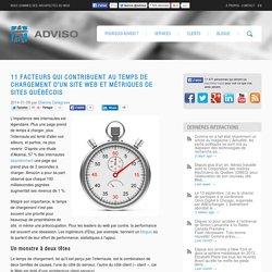 11 facteurs qui contribuent au temps de chargement d'un site web et métriques de sites québécois