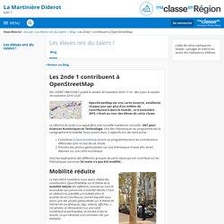 Les 2nde 1 contribuent à OpenStreetMap - Les élèves ont du talent ! - Lycée la Martinière Diderot