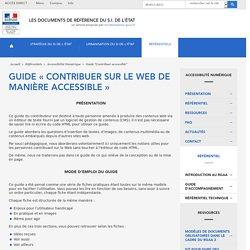 Guide « Contribuer sur le Web de manière accessible »