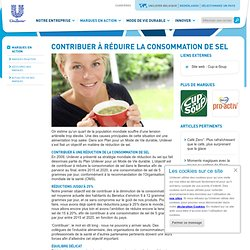 UNILEVER - 2011 - Contribuer à réduire la consommation de sel