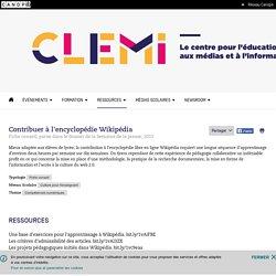 Contribuer à l'encyclopédie Wikipédia- CLEMI
