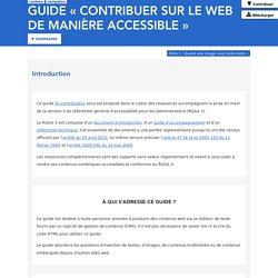 Guide «Contribuer sur le Web de manière accessible»