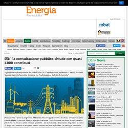 SEN: 1.000 contribuiti dalla consultazione pubblica