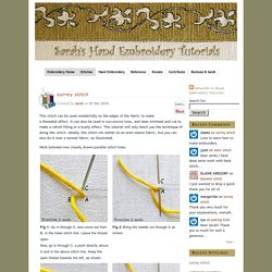 crossed fly stitch filling » Sarah's Hand Embroidery Tutorials
