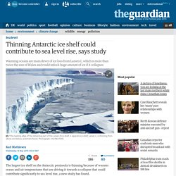 Thinning Antarctic ice shelf could contribute to sea level rise, says study