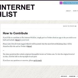 The Internet Wishlist