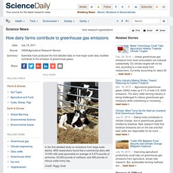 How dairy farms contribute to greenhouse gas emissions