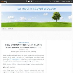 How Effluent Treatment Plants Contribute to Sustainability?