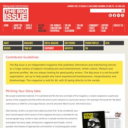Contribute - The Big Issue