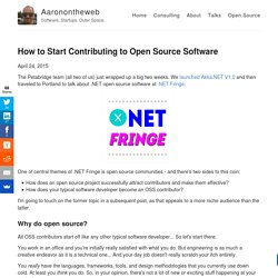 How to Start Contributing to Open Source Software – Aaronontheweb