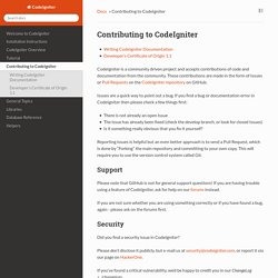 Contributing to CodeIgniter — CodeIgniter 3.1.4 documentation