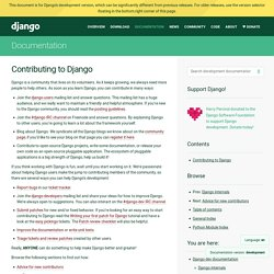 Contributing to Django