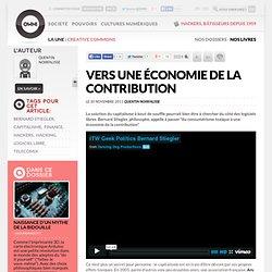 Vers une économie de la contribution