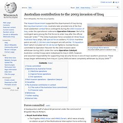 Australian contribution to the 2003 invasion of Iraq